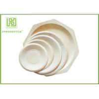 Quality Round White Disposable Wooden Plates bulk For Fruit 5'' 6'' 7'' 8'' Size wholesale