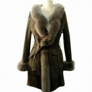 China Double Face Rex Rabbit Fur Coat, Elegant Fitting and Workmanship on sale