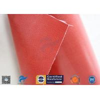 Removable Insulation Jacket 0.45mm Red Color 510g Silicone Coated Fiberglass