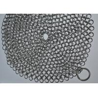 Quality 7X7 Inch 316 SS Ringer Cast Iron Cleaner / Wire Mesh Scrubber Round Shape wholesale