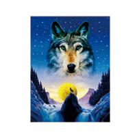 Quality Animal 3D Lenticular Pictures For Office Decoration / 3D Wolf Picture wholesale