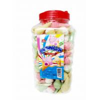 Cheap Jar Packaging Snacks Ice Cream Shape  Fruity Flavor Marshmallow Candy ,  Customized Marshmallow Sweets And Soft for sale