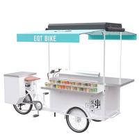 Quality Electric Bicycle Beer Cart , Mobile Vending Cart With High Load Capacity wholesale