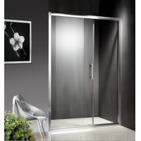 Quality 1200-1800X1950mm Replacement Sliding Glass Shower Doors , Shower Cubicle Doors With Double Wheels wholesale