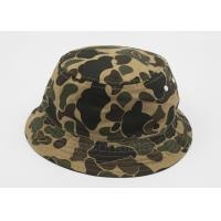 Quality Cotton Comouflage Fishing Bucket Hat Inner Embroidery , Men Sun Hats wholesale