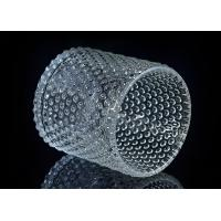 Cheap Home Deco Custom Nail Glass Candle Holder / Glass Cylinder Candle Holders for sale