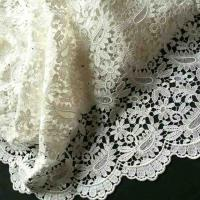 Quality African Styles Nigerian White Fashion Cord Lace Fabric With Lots of Stones wholesale