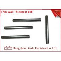 Quality White Galvanized Electrical Conduit / 1 inch EMT Conduit ERW Welded , Unthread Type wholesale