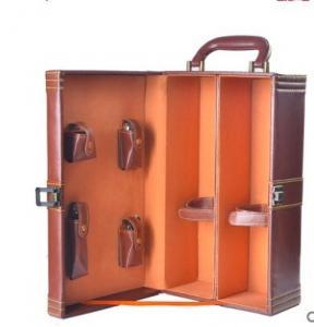 Quality leather wine gift box leather storage box luxury leather jewelry gift box wholesale