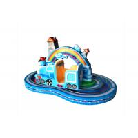 Quality Rainbow Kids Coin Operated Game Machine Train With Track Fit Amusement Park Ride wholesale