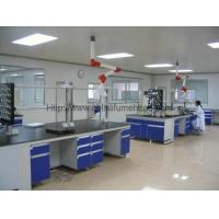 Quality Steel C Frame Wood Lab Furniture , Counter Top Island Table For Laboratory wholesale