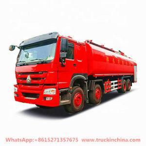 Sinotruk HOWO 12 Wheelers Water Bowser Fire Trucks 20000 -28000liters with Fire Pumper