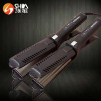 China professional electric scissor style hair straightener flat iron for womanSY-9916 on sale