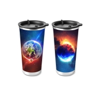 Quality Custom PP 3D Lenticular Plastic Cup Flip Lenticular Printing 3d Cup For Promotion Gifts wholesale