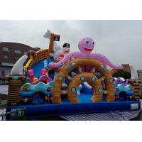 China Giant Pirate Ship Inflatable Bouncer Combo Slide Sea World Themed Octopus Shark on sale