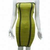 China Women's long knitted dress, suitable for young ladies on sale