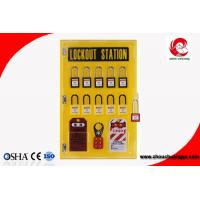Quality 10-locks lockout center station with hasp and tagout Lockout tagout kits-10 lock board wholesale