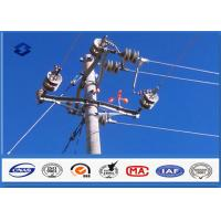 China Steel Q345 Material Steel Utility Pole for Transmission and Distribution Line on sale