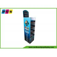 Beverage Stable POP Cardboard Merchandising Displays With Four Shelves FL032