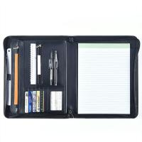 Quality Professional Leather Business Portfolio Zipper Closure With 11 Inch Tablet Pocket wholesale