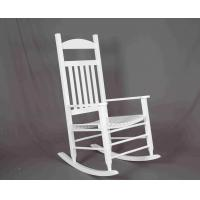 Quality White Rocking Chair Wooden Outdoor Furniture Hollow Design For Relaxing wholesale