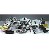 China 5 layers Impact bottom,10Pcs Stainless steel cookware set SHSS-27-0909 on sale