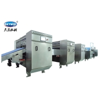 China 304 Stainless Steel SEW Motor Hard & Soft Biscuit Factory Machine on sale