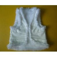 Quality Suede And Fur Joint Winter Vest Jackets , Warm Womens Sleeveless Vest Jacket wholesale