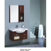 Quality Pure  Walnut Solid Wood Bathroom Cabinet Contemporary Style with 2 Drawers wholesale