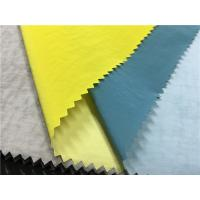China Colorful Skin Friendly Pu Coated Nylon Fabric 0.15mm Thickness For Light Jacket on sale