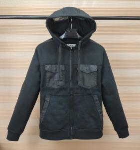 Quality M - 5xl Full Zipper Mens Fleece Coat Jacket 2 Cheast Pockets With Fleece Hoody wholesale