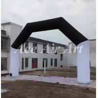 Quality custom black and white race inflatable arch rental with internal air blower for sale wholesale