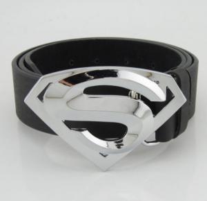 Quality Classic New Silver Superman Superhero Western Mens Metal Belt Buckle Leather wholesale