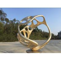 Quality Handmade Abstract Outdoor Bronze Sculpture , Painted Outdoor Lawn Ornament wholesale