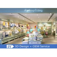 Quality OEM Children'S Store Fixtures / Baby Clothing Showcase With Light Green Lacquer Finished wholesale