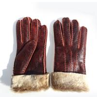 Cheap Fashion Lady's Double Face Sheep Skin Winter Glove for sale
