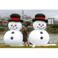 China Happy And Attractive Inflatable Holiday Decorations with  Snow man on sale