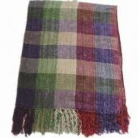 Quality Chenille Grid Shawl, Customized Colors are Accepted wholesale