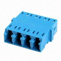 Quality LC Quad Adapter with SC Footprint, SNR-JNR Fiber-optic Adapter, Used for Telecommunication Networks wholesale