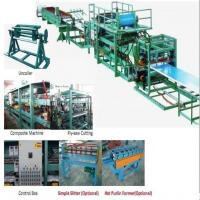 China 32KW 380v Sandwich Roll Forming Machine used to produce foam board, black board and rockwool machine on sale