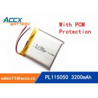 Quality 115050 105050 3200mAh 3.7v lithium polymer battery OEM rechargeable lipo battery wholesale