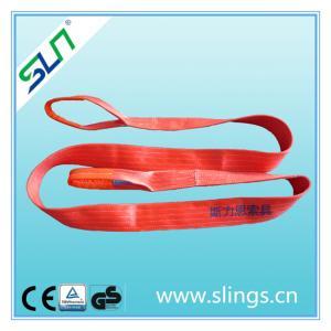 China Polyester Flat Webbing Sling Crane Equipment Lifting Straps on sale