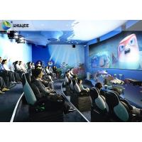 Quality Electric Dynamic 7D Cinema System / 3 People Capacity Movie Theater Chairs wholesale