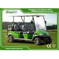 Buy cheap Excar green 6 Passenger Electric golf carts,48V Trojan battery golf buggy from wholesalers