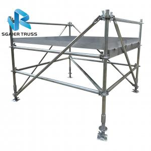 China Iron Layer Portable Stage Equipment With Black Deck Boards on sale