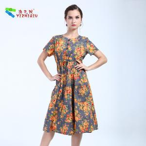 Quality Oem Brand Change Cotton Summer Clothing Floral Cotton Dresses Natural Waistline wholesale