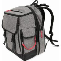 China New Arrival Amazing design gray baby Backpack Diaper Bag Thermal bottle pocket on sale