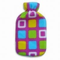 China Hot Water Bottle Cover in Various Shapes, Sizes and Colors, Made of Plush, OEM Orders are Welcome on sale