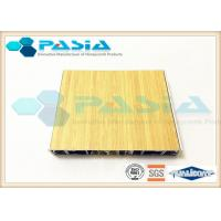 Quality Aluminium Honeycomb Wall Panels With The Bamboo Pattern Veneer Acid Resistance wholesale