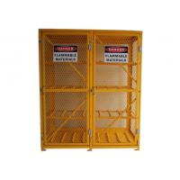 Quality 8 Shelves Compressed Gas Cylinder Storage Cabinets With 2 Warning Label 72 Inch wholesale